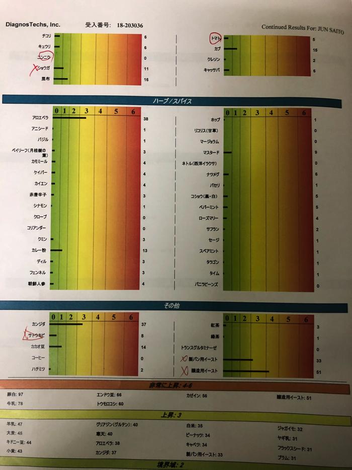 アトピー患者の私がアンブロシアの遅延アレルギー検査フルパネルを受けた結果